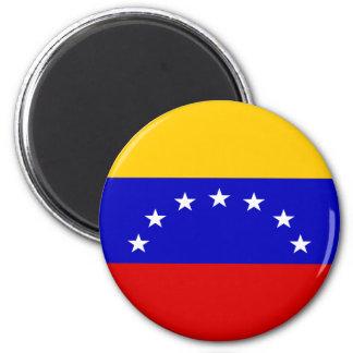 Venezuela flagga magnet rund 5.7 cm
