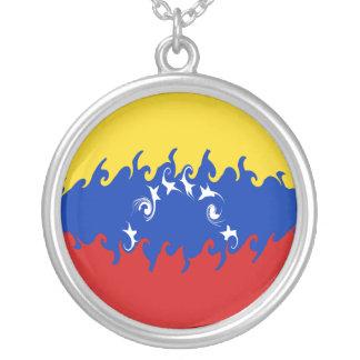 Venezuela Gnarly flagga Halsband Med Rund Hängsmycke