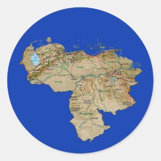 Venezuela kartaklistermärke runt klistermärke