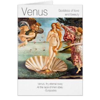 Venus gudinna av kärlek och skönhet hälsningskort