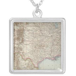Vereinigte Staaten von Nordamerika - USA karta Halsband Med Fyrkantigt Hängsmycke