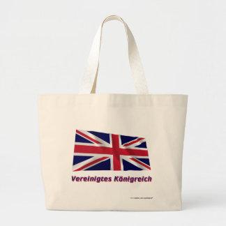 Vereinigtes Königreich Fliegende Flagge mit Namen Tygkassar