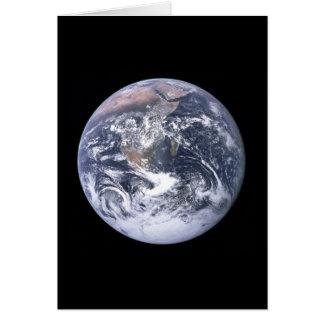 """""""Verkar jord för blåttmarmorn"""" från Apollo 17 Hälsningskort"""