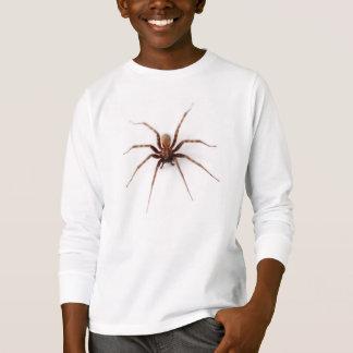 Verklig brun husspindel t-shirts