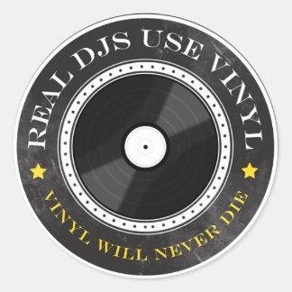 Verklig DJs användavinyl Runt Klistermärke