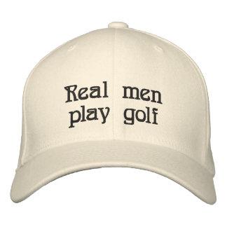 Verklig hatt för manarlekgolf broderad keps