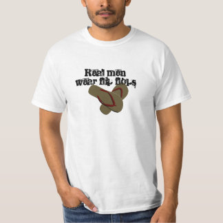 Verklig manarbäraflinflip flops tshirts