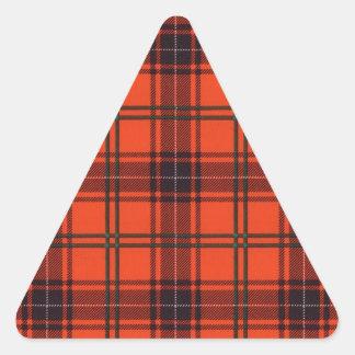 Verklig skotsk tartan - Wemyss Triangelformat Klistermärke