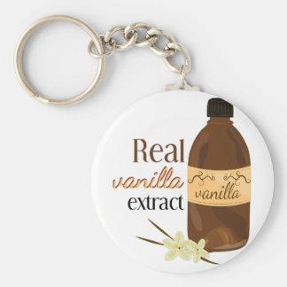 Verklig vanilj rund nyckelring