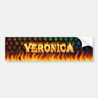Verklig Veronica avfyrar och flammar bildekaldesig Bildekal