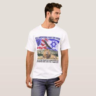 Verkliga amerikaner ber för Israel T Shirts