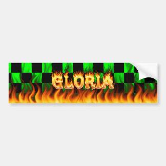 Verkliga Gloria avfyrar och flammar bildekaldesign Bildekal