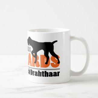 Verkliga hundar har skägg - Deutsch Drahthaar Kaffemugg