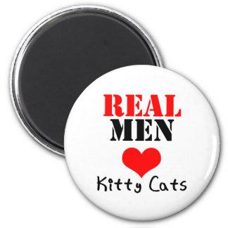 Verkliga kattungar för manarhjärta kärlek magnet för kylskåp