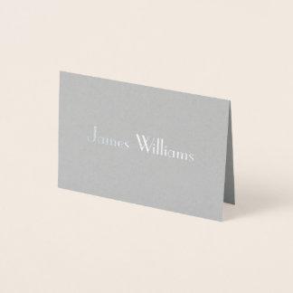 Verkliga kort för ställe för bröllop för silverart