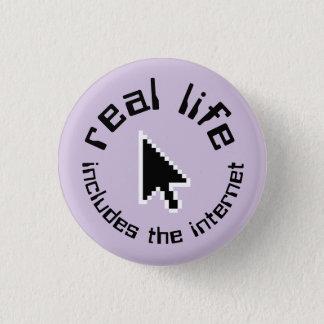 verkliga livet inkluderar internet knäppas mini knapp rund 3.2 cm