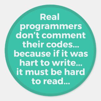 Verkliga programmerare runt klistermärke