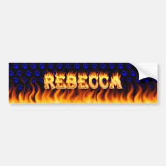 Verkliga Rebecca avfyrar och flammar Bildekal
