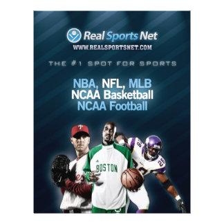 Verkliga sportar förtjänar reklamblad reklamblad 21,5 x 30 cm