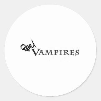 Verkliga vampyrer Merch Runt Klistermärke