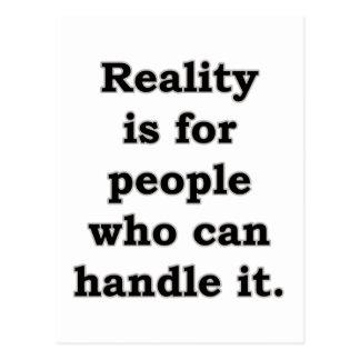 Verklighet är för folk är för folk… vykort