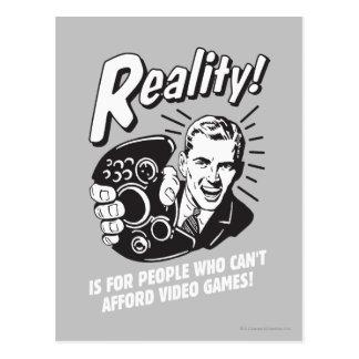Verklighet: Kan inte ha råd med videospel Vykort