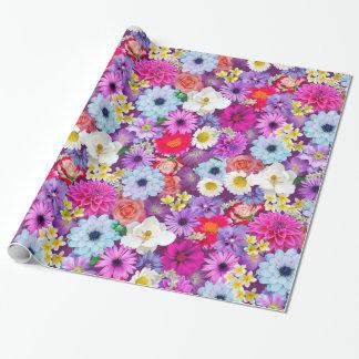 Verkligt blom- slående in papper för nätt foto presentpapper