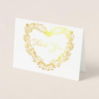 Verkligt guld omkullkastar att gifta sig för folierat kort