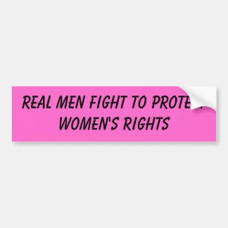 verkligt manarslagsmål som skyddar kvinna rättighe bildekal