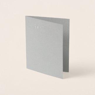 Verkligt silver omkullkastar kortet för grå folierat kort