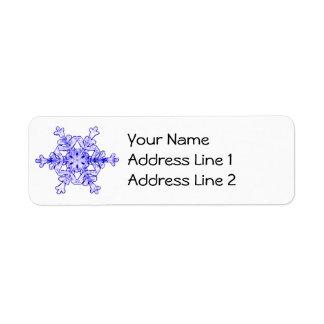 Verkligt Snowflakeadressetiketterlakan av 30 Returadress Etikett