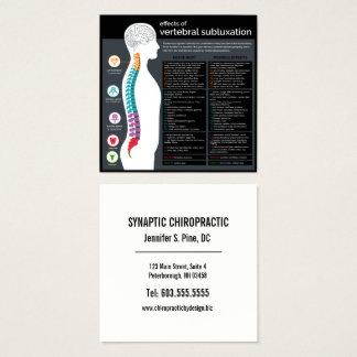 Verkställer av Vertebral Subluxationkiropraktor Fyrkantigt Visitkort