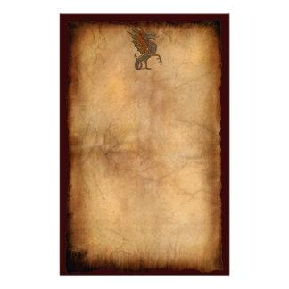 Verkställer draken för den gammala världen för brevpapper