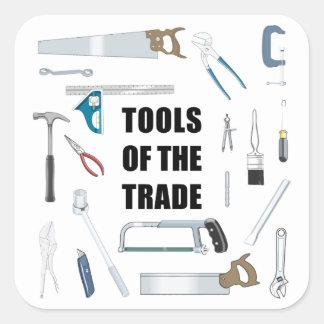 Verktyg av handeln: Maskinvara som används av Fyrkantigt Klistermärke