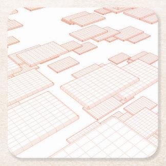 Verktyg för kommunikationssoftware och teknologi underlägg papper kvadrat