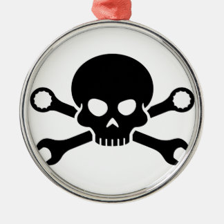 """Verktyg för skalle """"n"""" - skruva pirat 1 (svarten) julgransprydnad metall"""