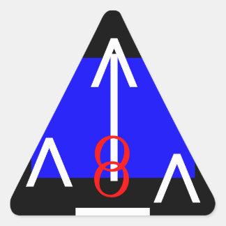 Verktyg för uppehället för dörrvisuellt hjälpmedel triangelformat klistermärke