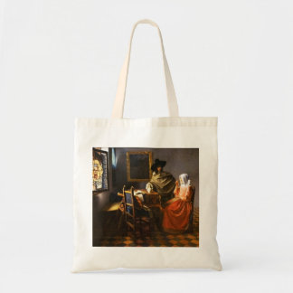 Vermeer exponeringsglaset av vin tygkasse