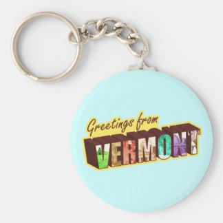 Vermont `, rund nyckelring