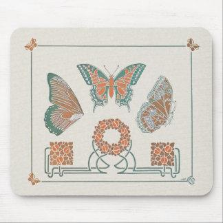 Verneuil art nouveaufjärilar Mousepad Musmattor