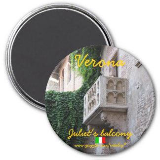 Verona italienJuliets design för magnet för balkon Magnet Rund 7.6 Cm