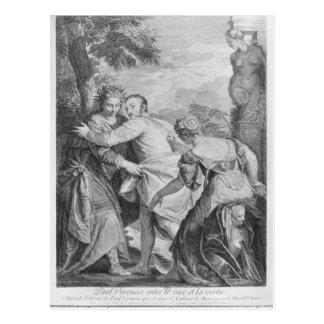 Veronese mellan vice och förtjänst vykort