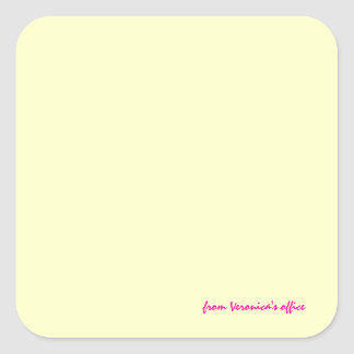 Veronica-klistermärkear Fyrkantigt Klistermärke