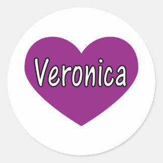 Veronica Runt Klistermärke