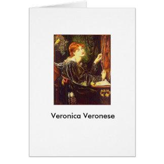 """""""Veronica Veronese"""" vid Dante Gabriel Rossetti Hälsningskort"""