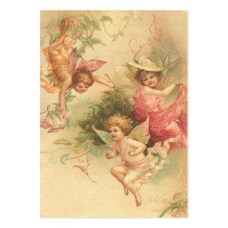 Verse för bibelKort-Vintage änglar på baksida Visitkort Mall