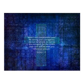 Verse för Joshua 1:9bibel om styrka Vykort