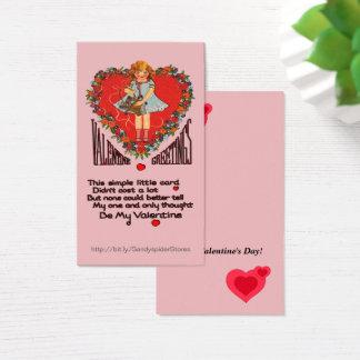 Vert för kran & för flicka för visitkort