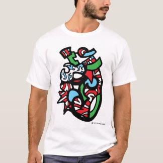 vertikal design 003 för multifärgad tee shirt