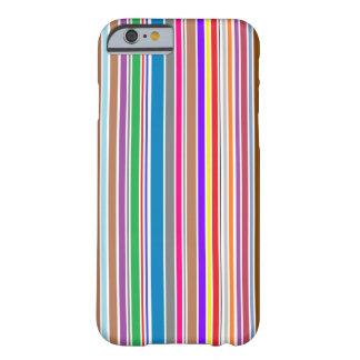 Vertikal färg görar randig iphone case barely there iPhone 6 fodral